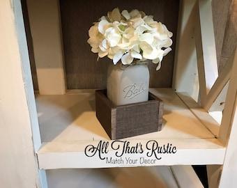 Single Mason Jar Centerpiece, Mason Jar Centerpiece, Wedding Centerpiece, Rustic Wedding Decor, Wedding Decor, Mason Jar Decor, Rustic Decor