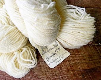 Yarn for socks - worsted weight wool sock yarn, yarn for sox, cream sock yarn, knitting