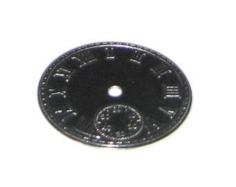 44mm Silver Clock Metal Steampunk Pendant