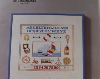 cross stitch Kit counted dmc: marine alphabet