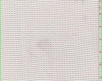 Ecru Check Mesh Knit, Fabric By The Yard