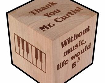 Music Teacher Gift, Personalized, Block