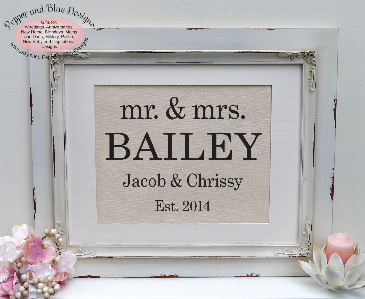 Wedding Gift For Couple Personalized Wedding Wedding Gift