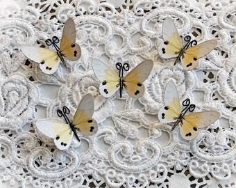 Reneabouquets Tiny Treasures Butterfly Set -  Sweet Dreams  Buttercream Premium Paper Butterflies
