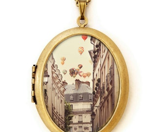 Paris Is A Feeling - Fine Art Photo Locket Necklace - Collaboration with IreneSuchocki
