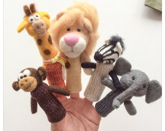 Finger puppets we felted wool