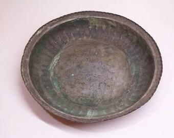 1850 antique copper bowl