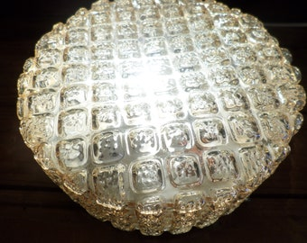 Vintage plafonniére * ceiling lamp * wall lamp * deckenleuchte * deckenlampe * plafonnier * glass lamp, 1950s