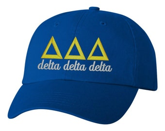 Delta Delta Delta, Tri Delta, Delta Delta Delta hat, Tri Delta hat, Tri Delta clothing, sorority hat, greek hat, big little hat