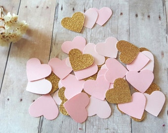 Pink Wedding Decor,Pink and gold confetti,Wedding decor confetti,Pink and gold baby shoer decor,Pink Bridal shower decor,Gold confetti