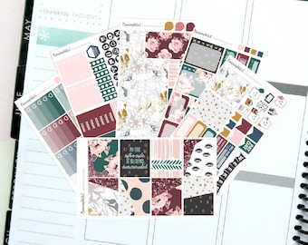 """Autumn/Floral/Navy """"Be Extra"""" Themed Planner Stickers for Erin Condren, Kikki K, Filofax, Happy Planner, Websters Pages"""
