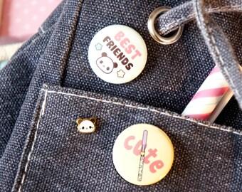 Chic Kawaii super cute and tiny panda pin.