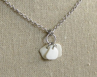 Seashell Necklace, Beach Jewelry, Sea shell necklace, Stainless Steel Shell Jewelry