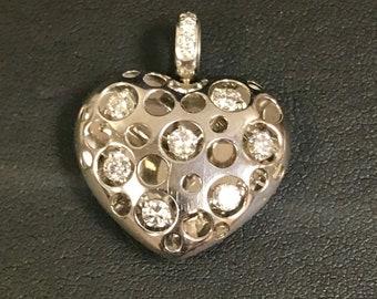 Elegant D'Annunzio C Natasha PLATINUM Diamond Pendant 0.68 cts Total