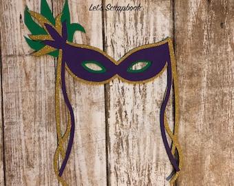 Mardi Gras Mask Die Cuts, Mask Die Cut, Mardi Gras Die Cut, Die Cut, Handmade Die Cut, Scrapbook Die Cut, Card Making, Scrapbook