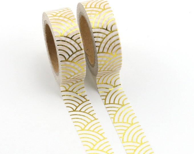 Gold Foil curved Washi Tape - Foil washi Tape -  Rainbow gold foil Washi Tape - Paper Tape - Planner Washi Tape - Washi - Decorative Tape