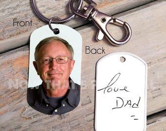Handwriting Keychain - Handwriting Keychain - Memorial Keychain - handwriting memorial - Signature Keychain- custom photo keychain - key tag