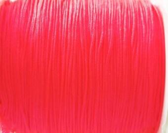 0.80 mm neon pink nylon thread