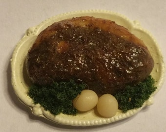 1:12 Scale Roast Beef, Miniature Roast Beef