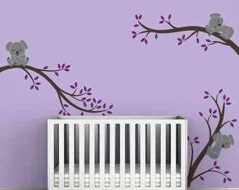 Koala Tree Branches Wall Decal by LittleLion Studio