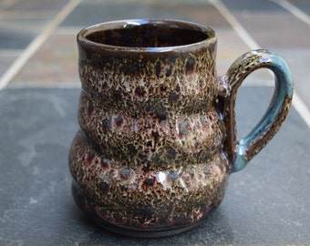 Handmade Ceramic Mug, Ceramic Mug, Studio Pottery, Ceramic Coffee Cup, Speckled Mug, Gift Idea, 16 oz