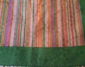 Square Green Striped Scarf