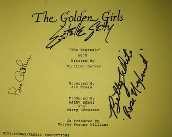 The Golden Girls Signed TV Script Screenplay Autographs Betty White Bea Arthur Rue McClanahan Estelle Getty signature classic tv sit com