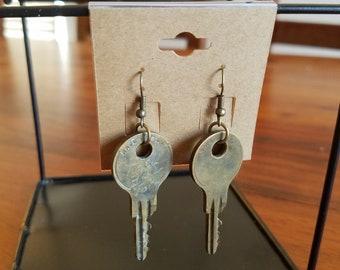 Simple Key Earrings