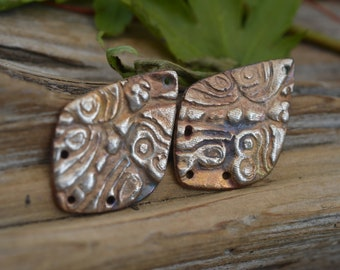 Handmade White Copper Asian Butterfly Components