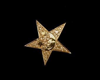 80's Large Art Piece Star Brooch         VG1297