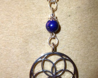 lapis lazuli pendant seed of life