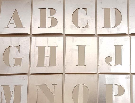 LARGE 4 inch Letter Stencil new single letter aluminum alphabet ABC