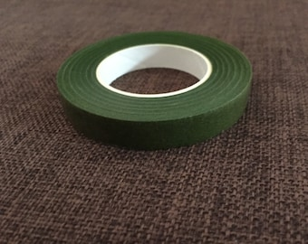 2 Rolls of Green floral tape 12mm width : 30 yards length