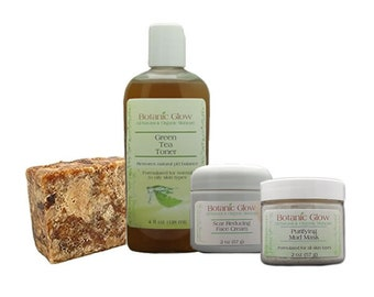 Clear Results Acne Skin Care Kit 4 pcs - All-Natural - Organic