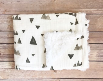 Infant Baby Blanket - Mountain Baby Blanket - Mountain Baby Bedding - Mountain Nursery - Car Seat Blanket - Mountain Baby Gift - Woodland