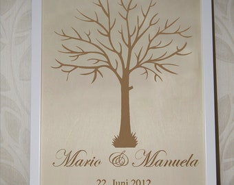 Wedding tree personalized guestbook to the wedding wedding tree