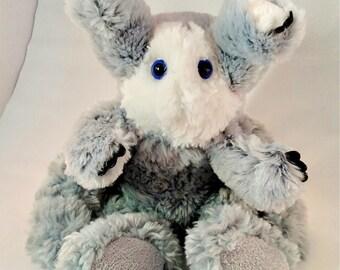 Baldrin. Frankenfuzzy. Soft Sculpture. Stuffed animal. Toy.