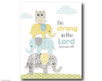 Be strong in the Lord | Ephesians 6:10 - Christian Art Print