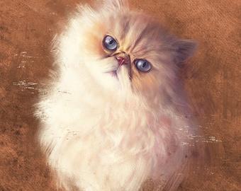 Custom Pet Portrait, Digital Pet Cat Portrait Painting. Memorial Heirlooms. Wedding Gift.