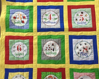 Counting baby quilt