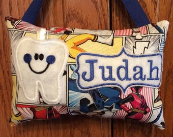 Power Rangers personalized tooth fairy pillow
