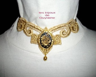 Golden Venice lace necklace special festivities !!