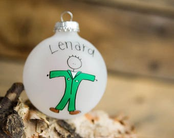 Navy flight - personalized Christmas ornament