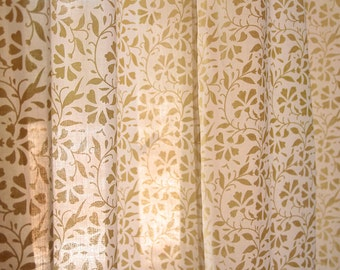 Floral curtains, curtains drapes, bedroom curtains, off-white cotton curtains, window curtains, decor curtains, boho, Indian curtains