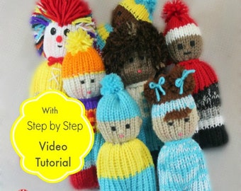 Loom Knitting PATTERNS Comfort Dolls aka Izzy Duzuza Softies Doll with Step by Step Video Tutorial Easy for Toy Beginners by LoomaHat