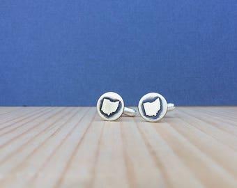 Ohio cufflinks | gift for him | groomsmen gift | cufflinks | state cufflinks | custom cufflinks