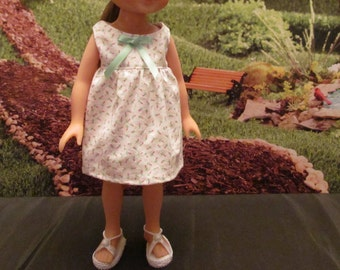 Dress Made to Fit Your 14'' or 14 1/2'' Dolls, Fun Dress,Cute Dress, School Dress, Casualwear, Play Dress ,Party Dress, Petite Rose Buds