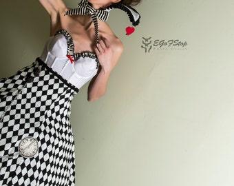 Steampunk victorian White Rabbit Alice in Wonderland dress