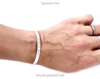 Sterling silver message bracelet, personalized silver bracelet, custom silver message jewelry, silver bracelet, engraved bracelet, 925