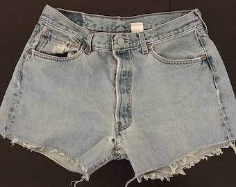 Vintage levis 501 cut off denim shorts Levis high waisted shorts